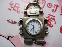 2014 New Vintage robot pocket watch cartoon necklace vintage pocket watch rahb015  Free Shipping