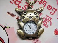 2014 New Cartoon vintage pocket watch pocket watch necklace rahb337  Free Shipping