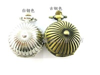 2014 New Fashion vintage pumpkin ball pocket watch pocket watch necklace rahb121  Free Shipping
