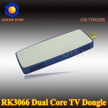 TV Stick  Android 4.1 Rockchip RK3066 1.6GHz Cortex A9 Dual core TV Box