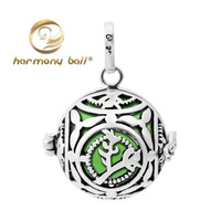 H207-18-C7 2014 new  Free Shipping  925 Silver jewelry Pendant Harmony Ball bell ringing 16mm Mexico ball for baby and pregnant