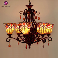30-Inch Tiffany Lamp Living Room Chandelier Continental Light Classical Baroque Art Wrought Iron Lamps Light