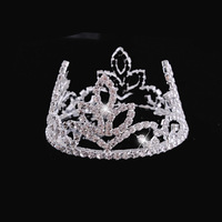 2013 New Free Shipping 6pcs/lot Fashion Mini Children Kids Tiara Wedding Flower Girls Crystal Crown Christmas Hair Accessories