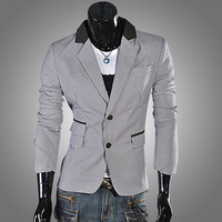 Hot Sell Mens Stylish Slim Fit Blazer Top Jacket Outwear,Male Cloths,Suit Top, Casual Wear,Wholesale,Free Drop Shipping XG22