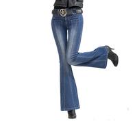 Hot Sell Next 2014 New Arriveal Fashion Women Plus Size Flare Jeans Designer Brand Ladies Pants 2 Color Women Straight Leg Jeans