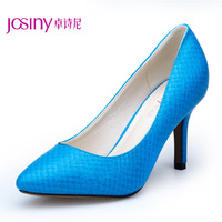 2013 Autumn New Style Hot Selling Women Pumps Serpentine Pattern thin Heels pointed toe High-heeled Ladies shoes Eur Size 34-39