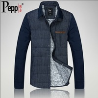 2013 male long-sleeve shirt men's coat down clothing fashionable casual slim denim thin outerwear