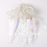 1pc 4m RGB 20LED Colorful String Icicles Style Lights EU Plug AC220V RGB Light For Christmas Party Wedding Decoration 710284