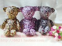 2012 ! wild leopard print bear fashion folding shopping bag eco-friendly bag cute women's handbag bag gift a  wholesale
