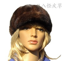 Marten hat mink hair Women fight mink baseball cap hat fur female autumn and winter cap