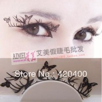 Popular paper cutting false eyelashes butterfly