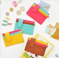 Color block card holder decoration card case testificate card case