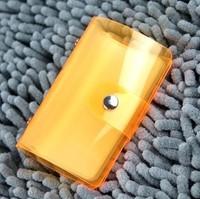 Fresh summer fashion 24 place card crystal card holder antimagnetic bank card case transparent brief