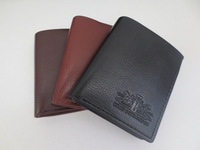 Male short design wallet vertical male wallet genuine leather wallet