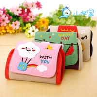 Cloth fresh fashion cartoon 24 multi card holder card holder card case card holder women's handbag embroidered