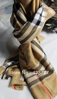 New arrival luxury women's and men's cashmere plaid scarf long design cape for autumn and winter