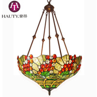 18 Inch Tiffany Lamp Fixture Art Home Decor Store Cafe Grape Pendant/Pendant Lamp/Droplight Lamp