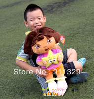 Best Selling!Dora the Explorer Plush Dolls Dora with star dora toys Free Shipping