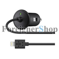 2.1 AMP Belkin Car Charger 8pin USB Cable Connector For Iphone 5 Ipad mini 4 ipod touch 5 nano 7 F8J075btBLK