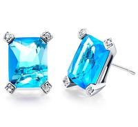 new Marine Cube fashion korea style simple hotsale sliver Austria crystal stud earrings for lady girl's earrings wholesale #8246