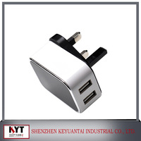 2013 hotest  sell  5v 2a single usb charger with different ac plugs use for Tablets