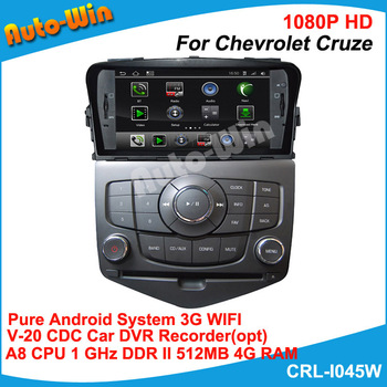 "S150 A8 Dual Core 7"" Pure Android DVD for Chevrolet Cruze with 1GB CPU 512MB DDR V-20 3-ZONE Car DVR Wifi 3G modem(opt)"