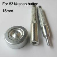 831# Map diameter 15mm snap button install tools 3pcs/set kits