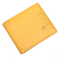 Kangaroo wallet women's cowhide short design casual wallet female purse 2067