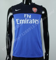 Free shipping Arsenal soccer jersey arsenal football sleeveless vest jersey training suit set vest  wholesales