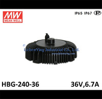 Mean Well 36V 6.7A LED high low bay lighting Driver spot lighting power supplies circular shape HBG-240-36 LED Power Supply