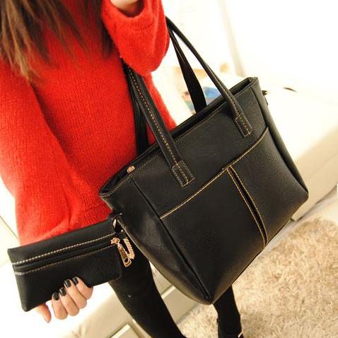 Bags 2013 women's handbag big cheap bag fashion black fashion vintage shoulder cheap bag(China (Mainland))