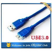 1.5m  USB 3.0 A male to high speed Micro USB Super Slim Flat Cable for external Hard Disk