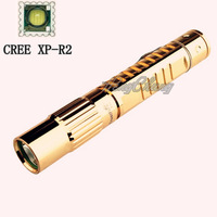 1PC  TrustFire Z10 CREE R2 LED  160 Lumens  5 Mode Golden  mini LED Copper Flashlight