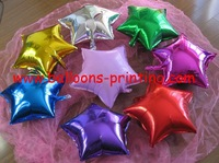 Free Shipping 18inch star Foil Balloons Party Festival Decor Filled Normal Air 50pcs/lot Each Color