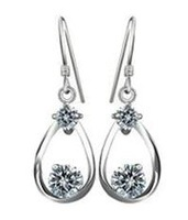 2013 new design 925 pure silver jewelry 925 pure silver ear hook pure silver stud earring female uy-e025