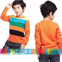 Fashion Long Sleeve Sweaters  Kids Autumn New Tops Boys Striped Swaeters,Cool Kids Wear,Free Shipping  K2654