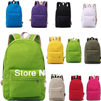 New Women Men Lady Fashion Casual School Bag Campus shoulder Bag Backpack  Canvas bag Wholesale Free shipping 10 colors