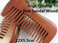Wholesale 5Pcs/Lot 100% Natural Red Sandal Wood Hair Comb Classic Comb-12-5