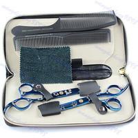 Stylist Barber Hair Cutting Shears Clipper Hairdressing Salon Scissors  Comb Set