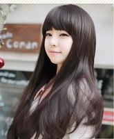 Wig scroll fluffy female non-mainstream qi bangs medium-long jiafa pear stubbiness