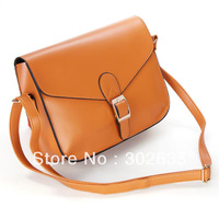 Free shipping 100PCS/LOT Women Lady Handbag Satchel Purse PU Faux Leather Casual Tote Shoulder Cross body Messenger Bag 12color