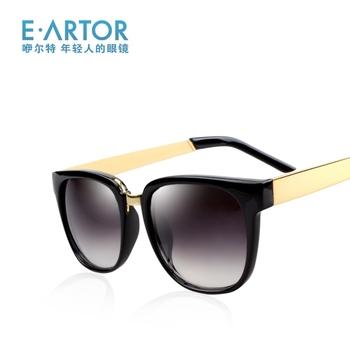 Eartor male sunglasses vintage big box sun glasses the trend of fashion leopard print sunglasses