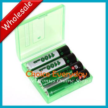 10 PCS/LOT4pcs/pack Soshine Ni-MH AAA 1100mAh Rechargeable Batteries +Portable Battery Box