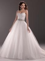 Top New Arrival Sweetheart Neckline Beadings Court Train Aline Fashion Wedding Dresses