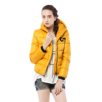 Free shipping New arrival  women's with a hood exude short down coat  design
