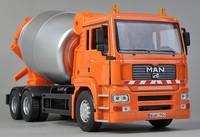 Brand New Automaxx 1:32 Scale MAN Series Concrete Cement Mixer Construction Site Truck Orange Diecast Model In Stock