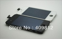 Free shipping For iPhone4 iphone4G  LCD digtizer touch display screen assembly glass replacement white and black