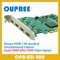 OPR-HD400 Quad 3D 1080P HDMI Video Capture Card, Simultaneously Capture Quad 1080P HDMI / 3D HD Video Signals