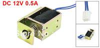 Linear Motion Open Frame Push Type Electromagnet Solenoid DC 12V 0.5A