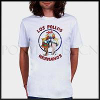 Free shipping Breaking Bad LOS POLLOS HERMANOS T-shirt cotton Lycra top Fashion Brand t shirt men 2013 new high quality